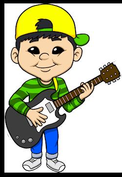 Electric Guitar Boy Small
